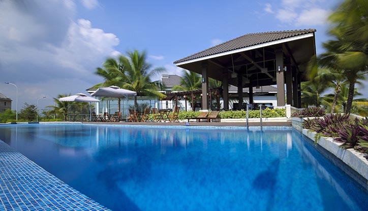 Hồ bơi dự án Jamona home Resort - Sacomreal