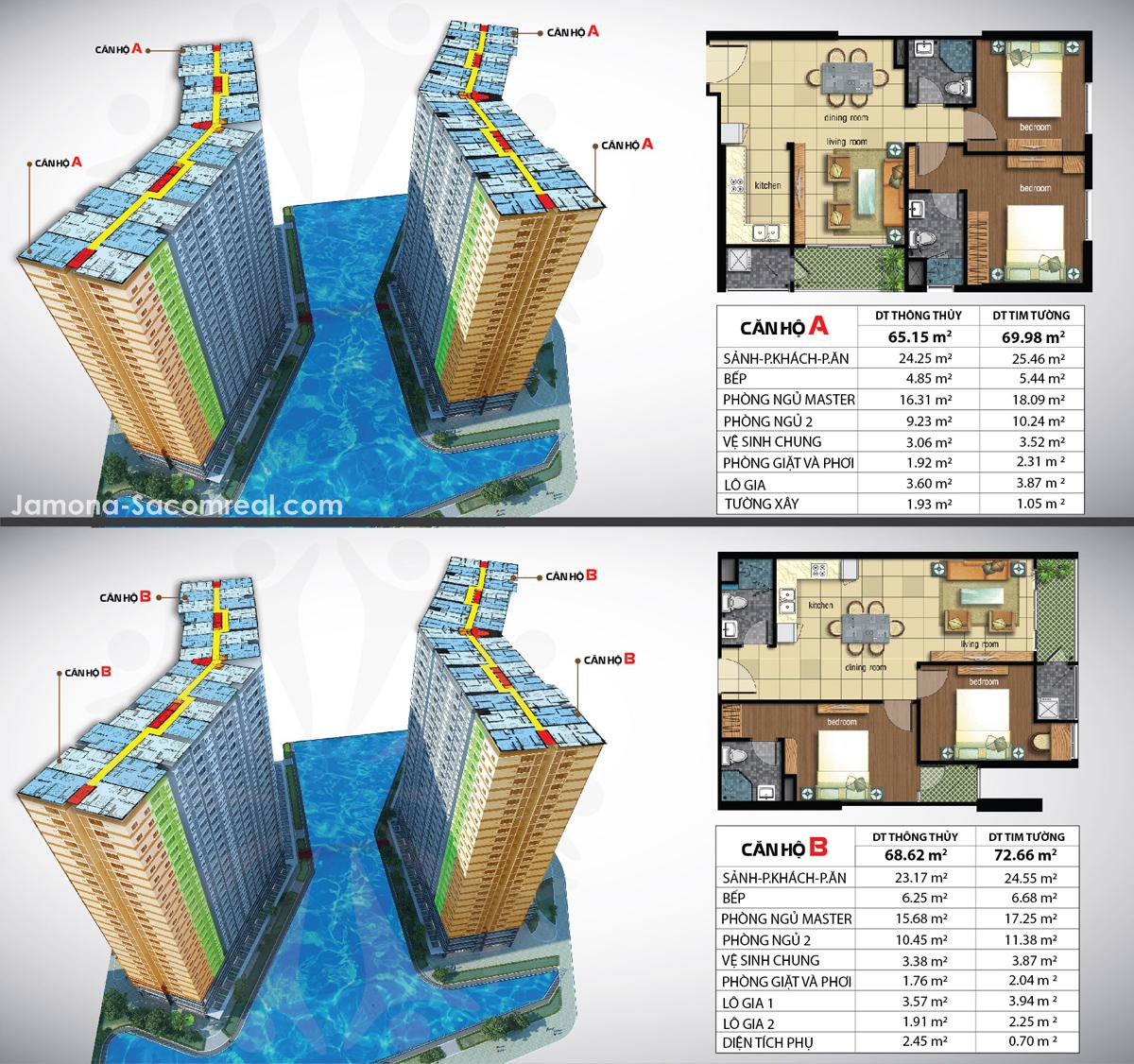 Căn hộ 69 m2 Luxury Home mở bán ở vị trí góc và kề góc