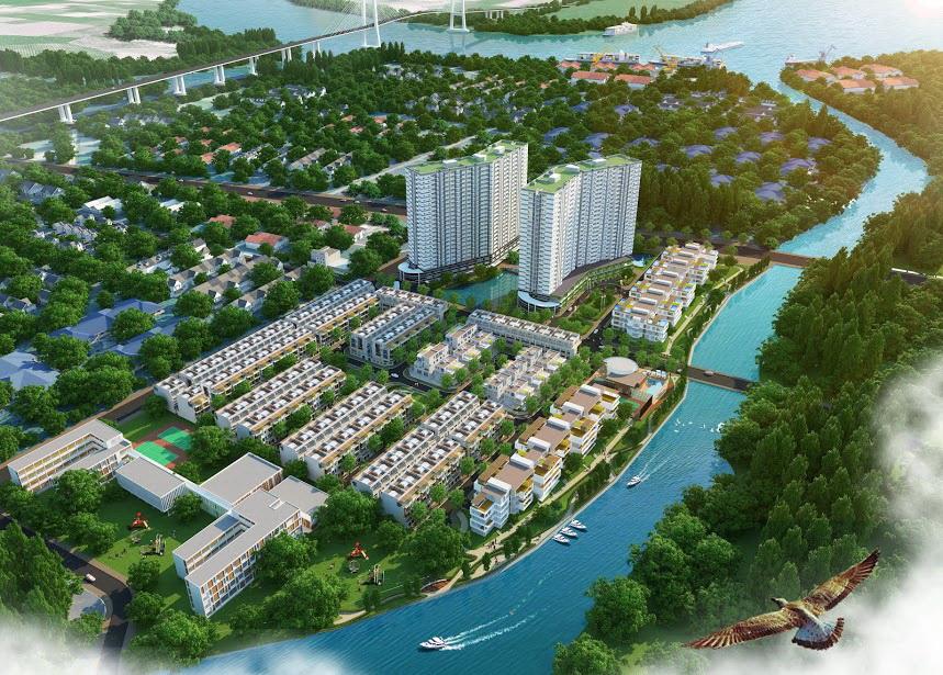 Thiết kế của 2 tháp căn hộ Luxury Home - Jamona Apartment trong tổng thể khu dân cư Jamona City