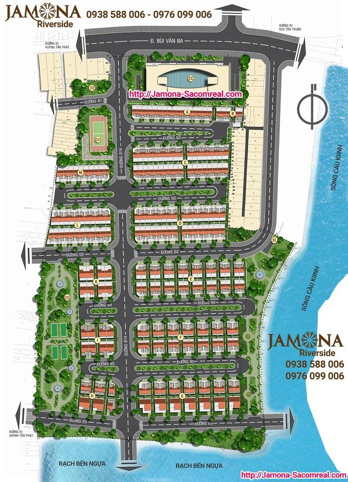 Mặt bằng dự án Jamona Riverside