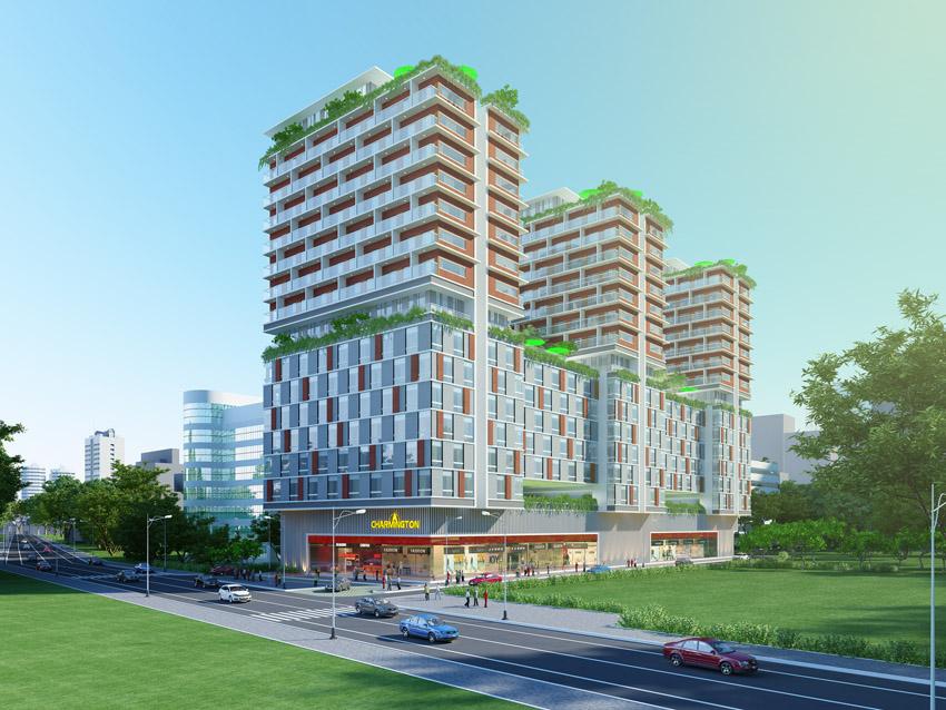 Phối cảnh dự án căn hộ, văn phòng Charmington, Lapointe, La Pointe, 181 Cao Thắng, phường 12, Quận 10, TP.HCM.