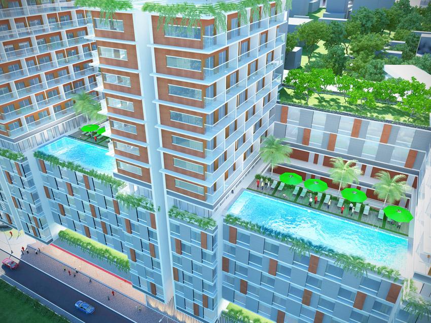 Hồ bơi tràn dự án Charmington La Pointe, 181 Cao Thắng, phường 12, quận 10