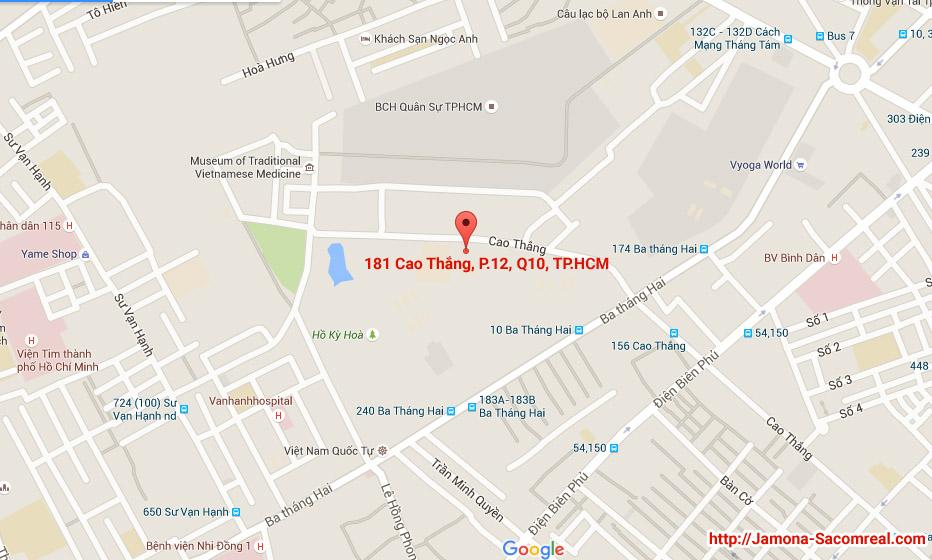 Vị trí dự án căn hộ văn phòng 181 cao thắng, quận 10