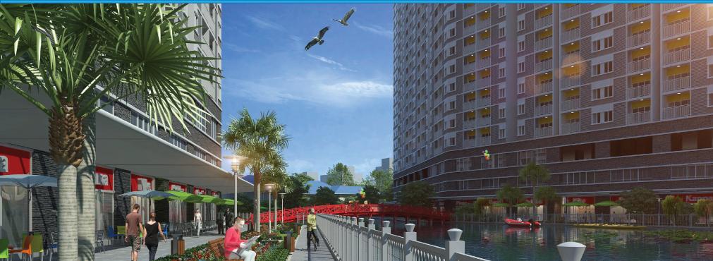 Phối cảnh hồ cảnh quan dự án căn hộ Luxury Home - Sacomreal