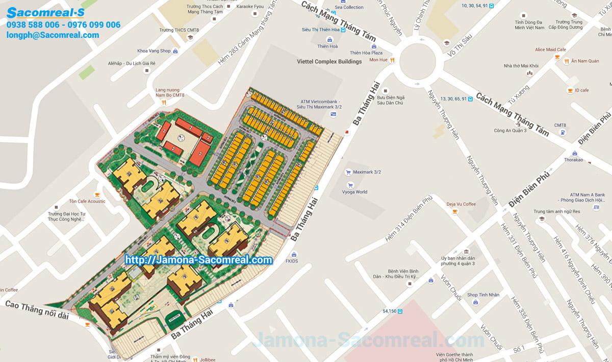 Vị trí dự án Hà Đô Z 756 Sài Gòn