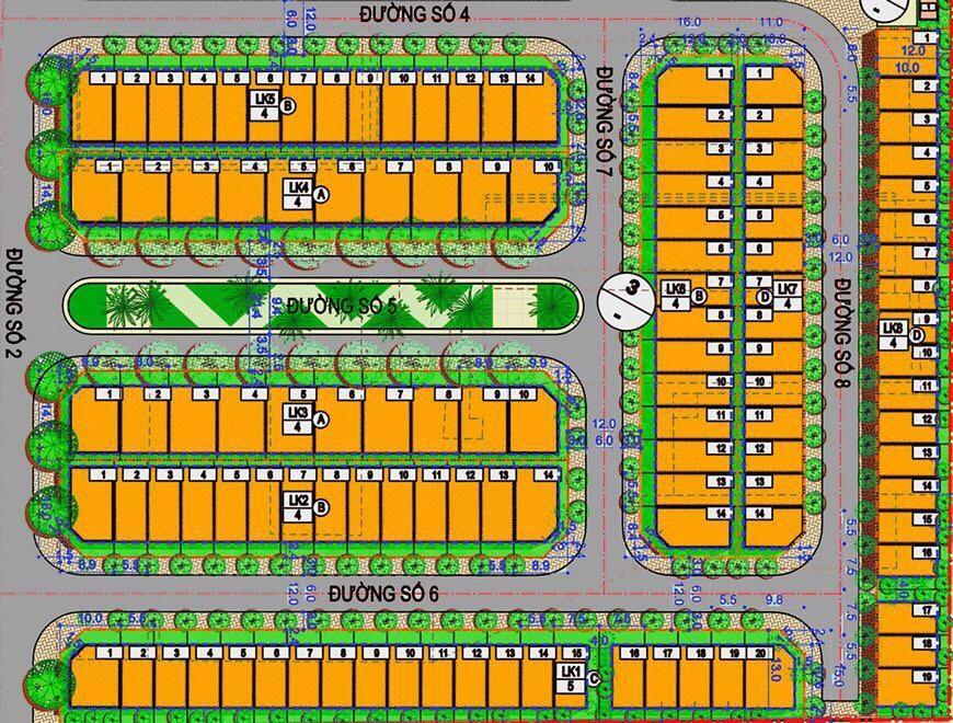 Bản đồ phân lô dự án Hà Đô 756 Sài Gòn quận 10