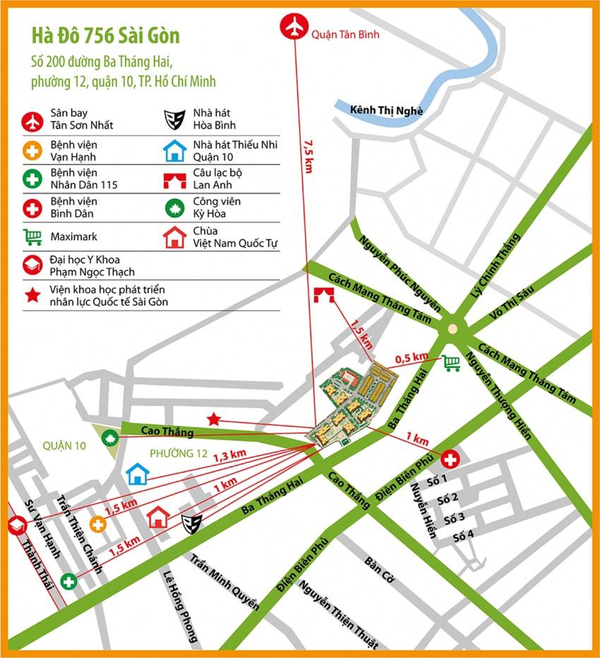 Vị trí và tiện ích dự án Hà Đô 756 Sài Gòn