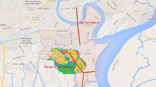 Kết nối quận 2 và quận 7 khi cầu Thủ thiêm 4 hoàn thành