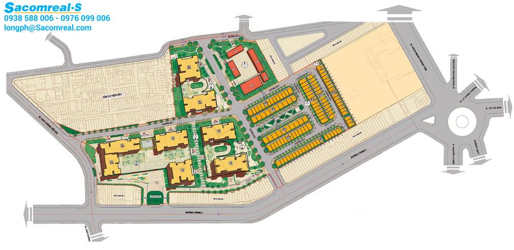 Hà Đô Centrosa Garden quận 10 mặt bằng tổng thể dự án.