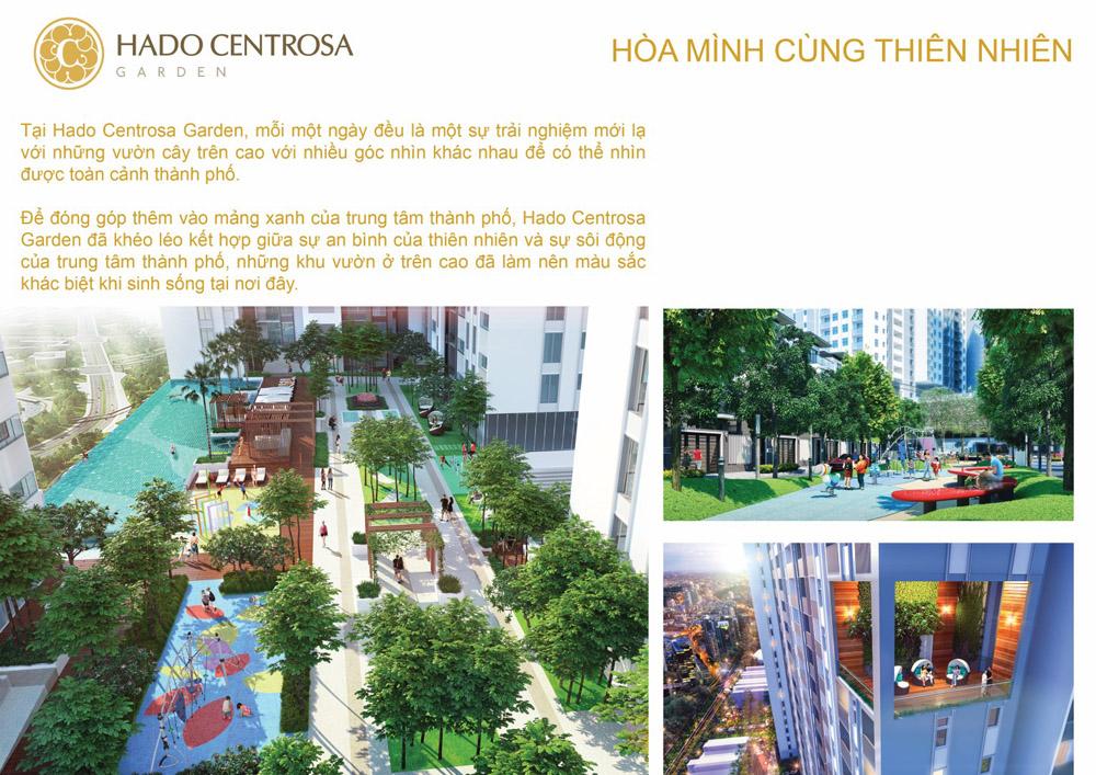 Cuộc sống đẳng cấp, hòa mình cùng các mảng xanh trong lành tại Hà Đô Centrosa Garden
