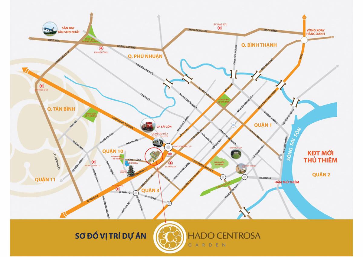Vị trí dự án Hà Đô Centrosa Garden quận 10 (Hà Đô Z756 Sài Gòn)