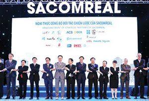 Sacomreal đã ký kết hợp tác chiến lược với 20 đối tác thuộc nhiều lĩnh vực để phát triển một cách toàn diện