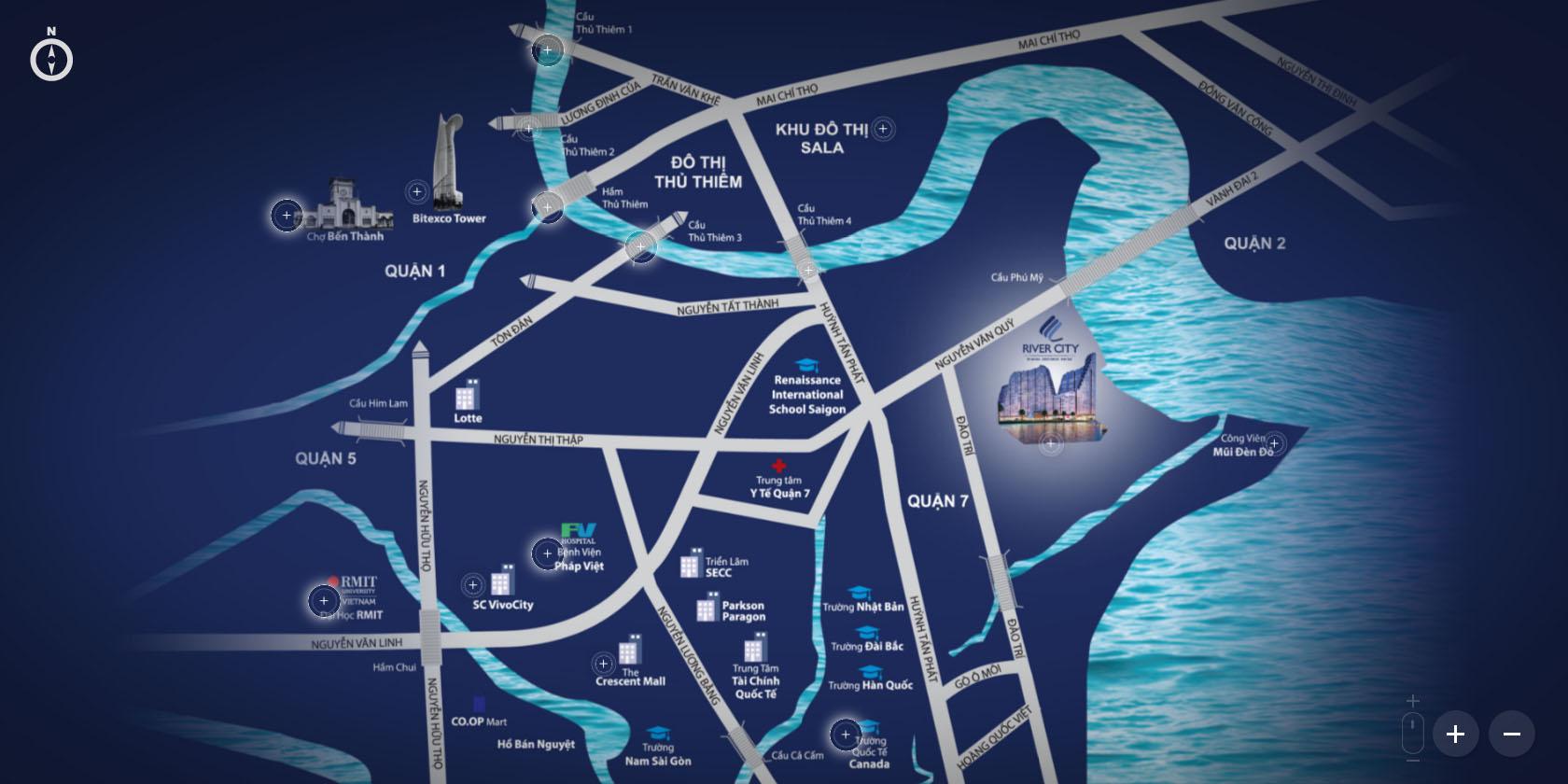Vị trí dự án River City quận 7