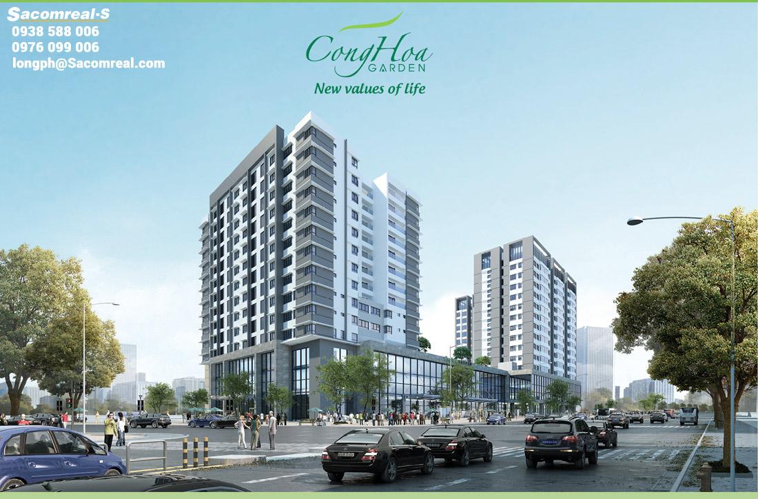Phối cảnh tổng thể dự án căn hộ Cộng Hòa Garden Tân Bình