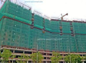 Tháp Nam căn hộ Luxury home quận 7 đã thi công đén tầng 17.