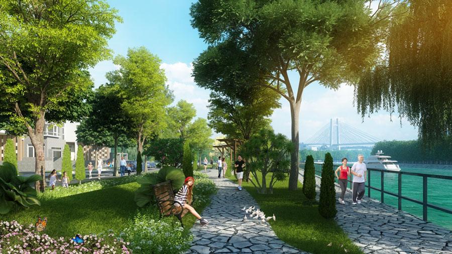 Jamona Golden Silk là dự án có nhiều mảng xanh đáng giá xen kẽ trong dự án.