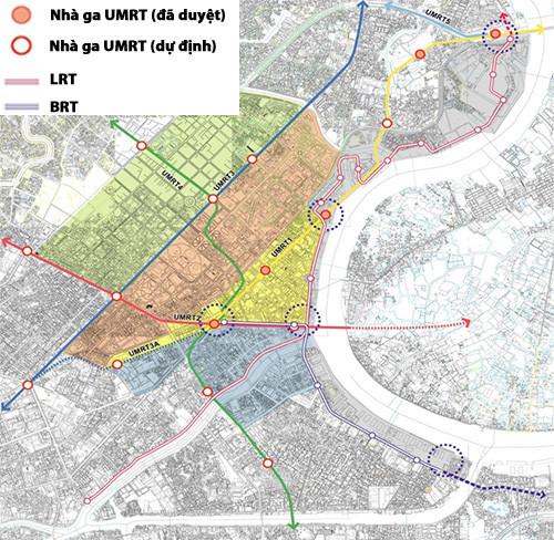 Quy hoạch vùng trung tâm 930 hecta của thành phố.