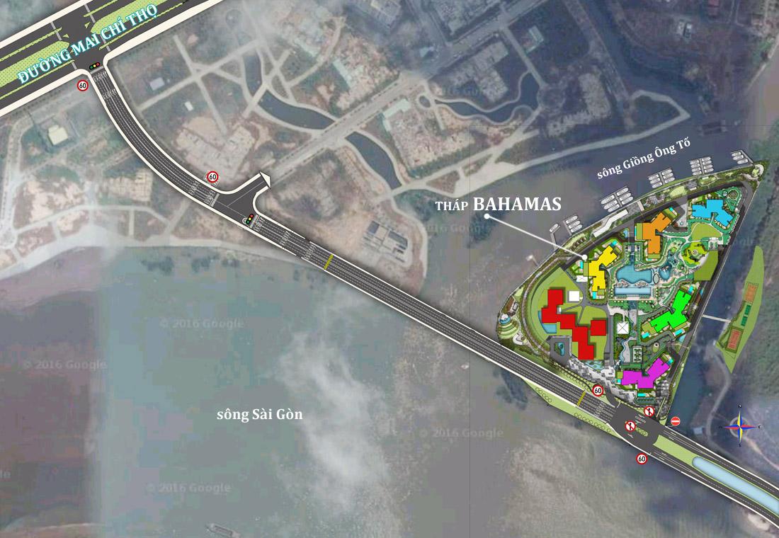 Đường qua Đảo Kim Cương quận 2, ra Mai Chí Thọ.