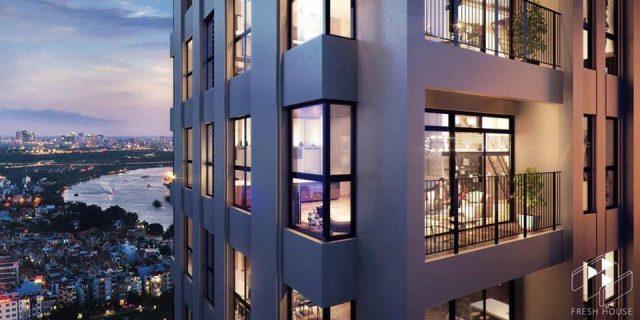 Tầm nhìn trải rộng của các căn hộ tại dự án.