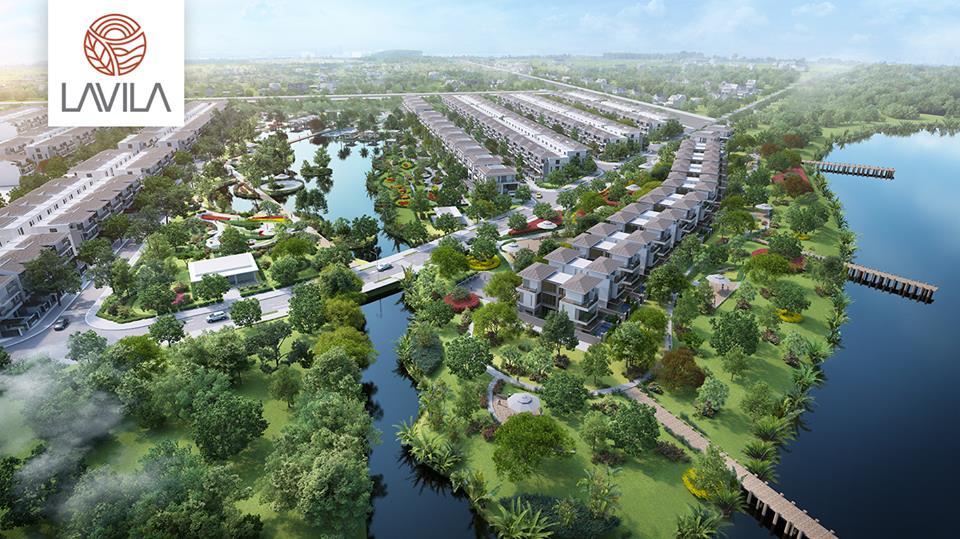 Dự án Lavila có lợi thế về môi trường sống trong lành ven sông.