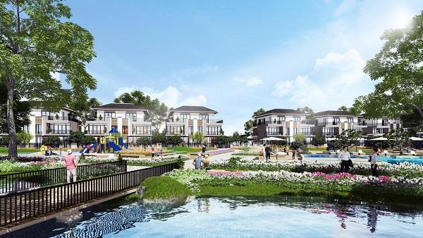 Thiết kế cảnh quan dự án Lavila lấy cảm hứng từ công viên nổi tiếng Keukenhof Hà Lan.