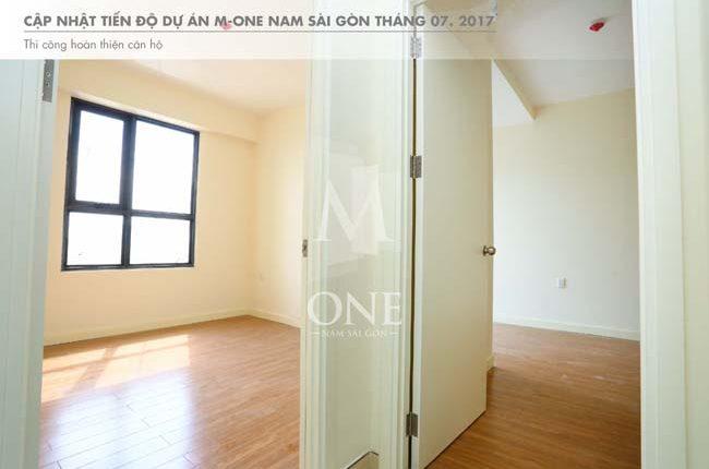 Tiến độ thi công căn hộ M-One tháng 7-2017.