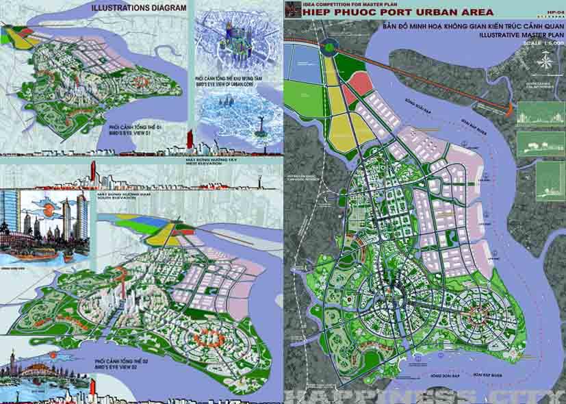 Cảng Hiệp Phước - phối cảnh quy hoạch tổng thể.