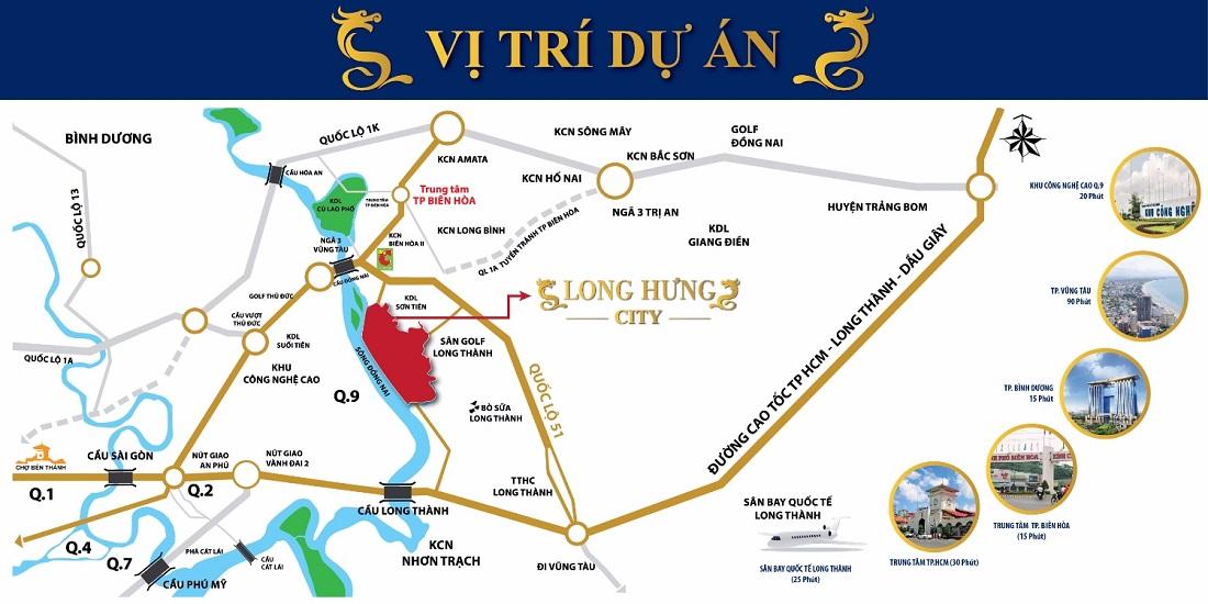 Vị trí dự án Long Hưng - Dreamland City Biên Hòa, Đồng Nai.