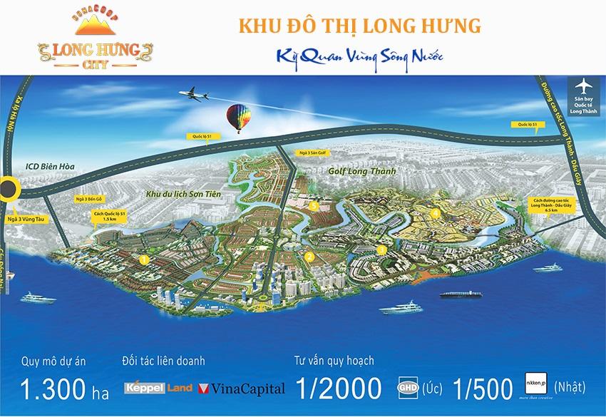 Phối cảnh dự án khu đô thị Long Hưng city, Bien Hòa, Đồng Nai.