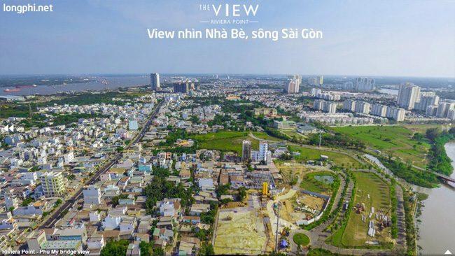 Căn hộ The View, view trực diện nhìn Nhà Bè, sông Sài Gòn.