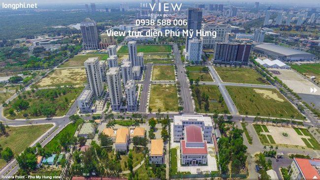 Căn hộ The View, view trực diện nhìn Phú Mỹ Hưng.
