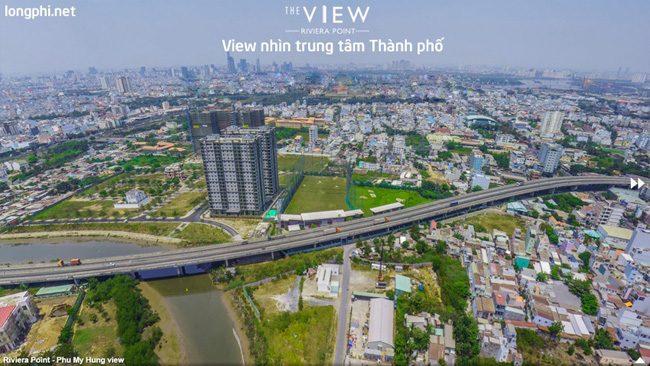 Căn hộ The View, view trung tâm thành phố.