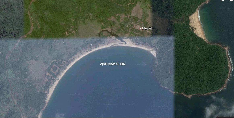 Vị trí của dự án biệt thự biển Vinpearl Làng Vân.