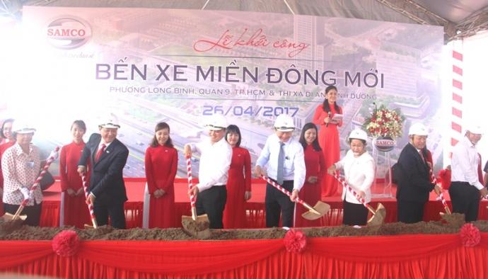 Lãnh đạo Thành phố tham dự khởi công bến xe miền Đông mới tại quận 9.