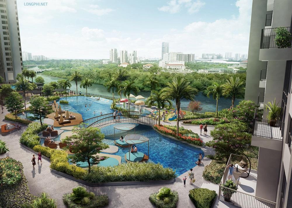 View nhìn tuyệt đẹp cảnh quan tiện ích The View - Riviera Point cùng Phú Mỹ Hưng - Nam Sài Gòn.