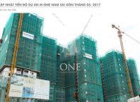 Dự án căn hộ M-One Masteri quận 7 đang thi công vào tháng 5/2017.