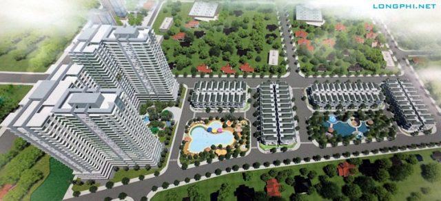 Phối cảnh tổng thể dự án khu dân cư Hưng Phát Green Star tại phường Phú Mỹ, Quận 7, TP.HCM.