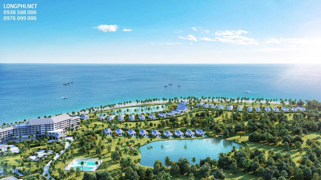 Biệt thự biển dự án Vinpearl Cửa Hội Nghệ An có thiết kế độc đáo với tầm nhìn view biển, hồ cảnh quan.