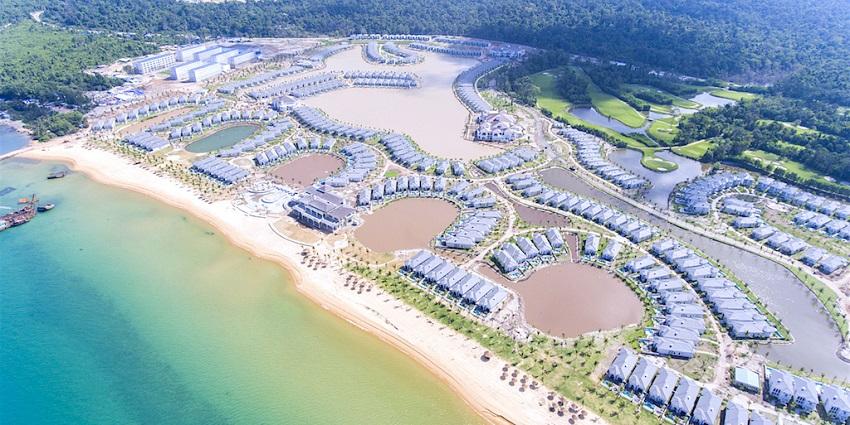 Khu dự án biệt thự biển Vinpearl của tập đoàn Vingroup.