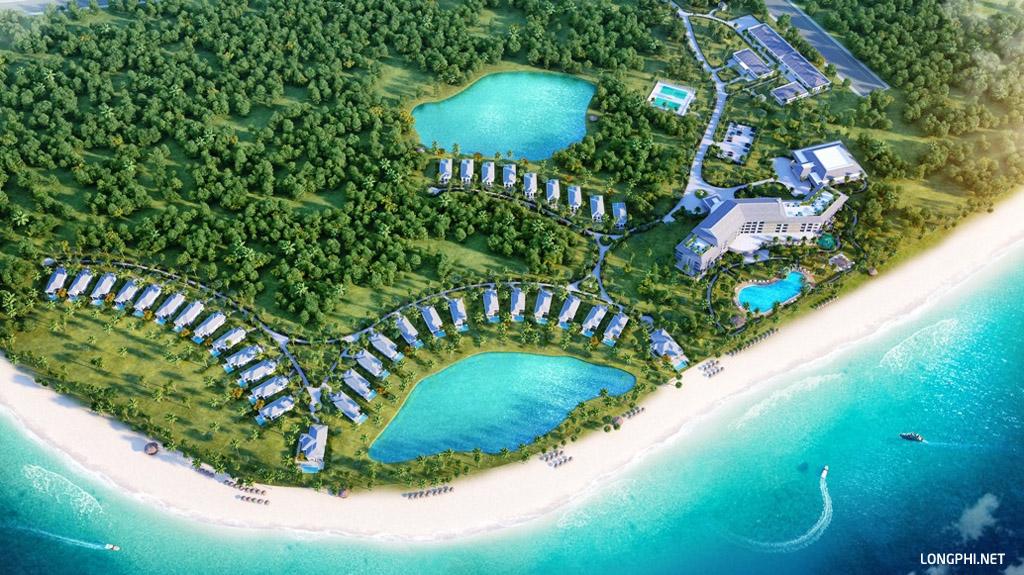 Phối cảnh từ trên cao dự án Vinpearl Cửa Hội Nghệ An resort & villas.