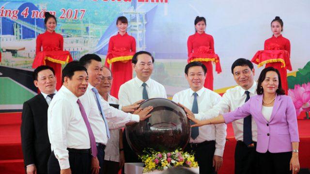 Chủ tịch nước đến tham dự lễ khai trương dự án Vinpearl cửa Hội Nghệ An ngày 29/4.