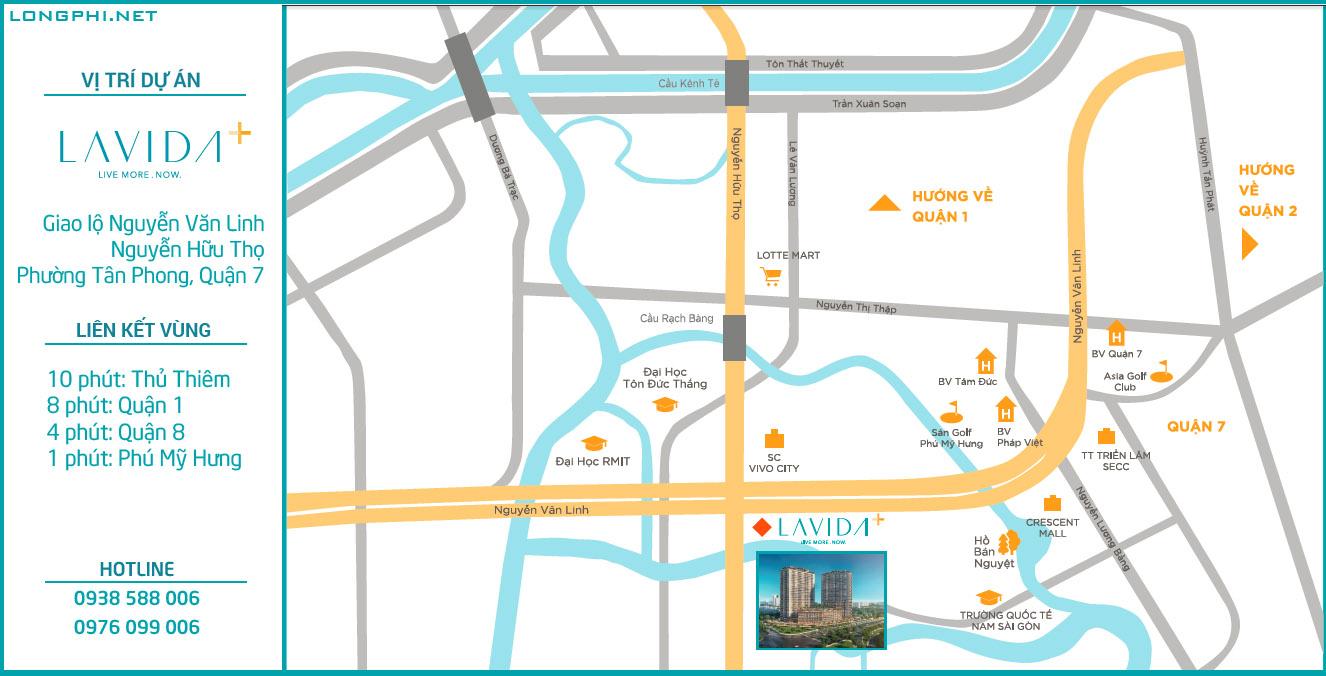 Vị trí dự án Lavida Plus quận 7.