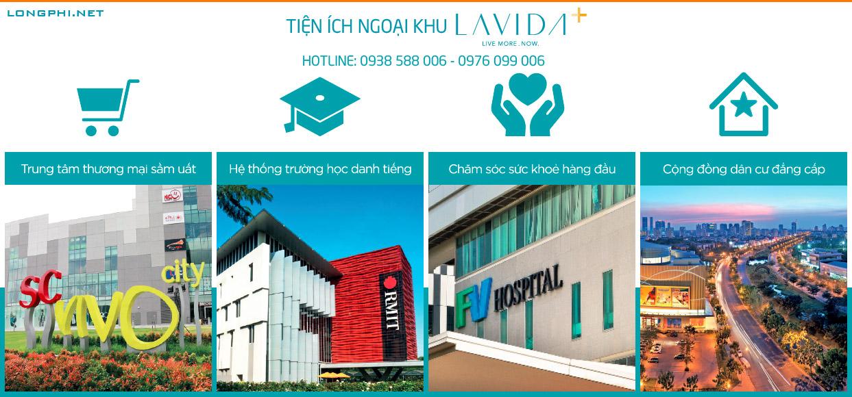 Dự án Lavida Plus có vị trí đắc địa nên hội tu nhiều tiện ích ngoại khu phong phú hiện đại.