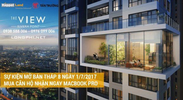 Mua căn hộ tháp 8 The View Riviera Point ngày mở bán để nhận ngay Macbook Pro và bốc thăm Iphone 7.