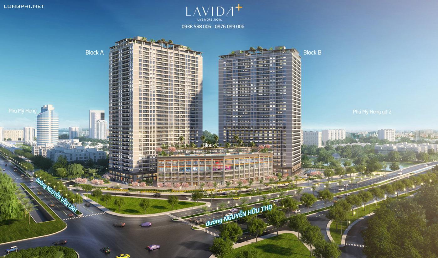 Phối cảnh tổng thể dự án căn hộ Lavida Plus quận 7 - Quốc Cường Gia Lai.