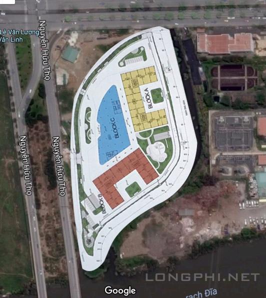 Vị trí phân bổ các block dự án căn hộ Lavida Plus quận 7.