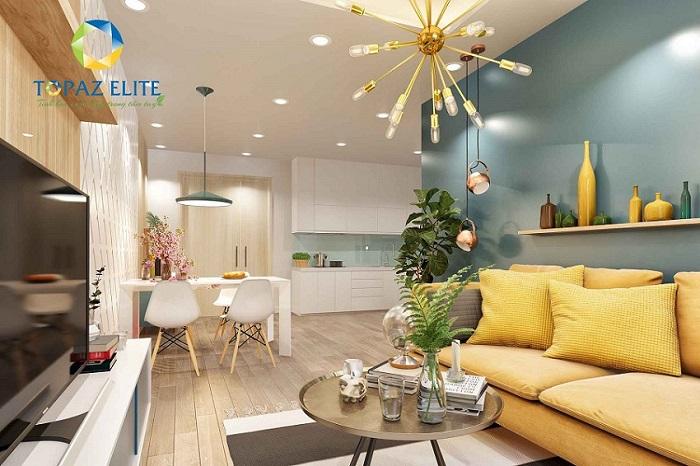 Một góc nhà mẫu căn hộ Topaz Elite quận 8 - Vạn Thái Land.
