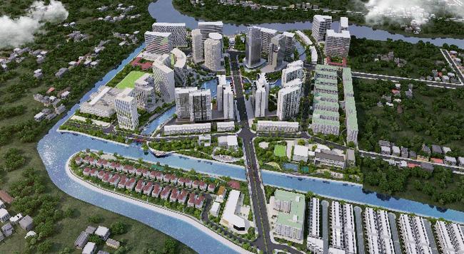 Phối cảnh tổng thể khu đô thị Mizuki Park Bình Chánh - Nam Long.