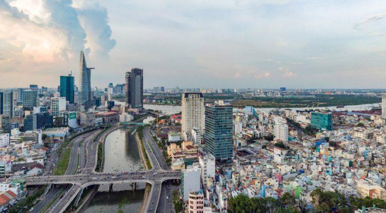 Góc nhìn hướng Đông từ dự án Masteri Millennium quận 4.