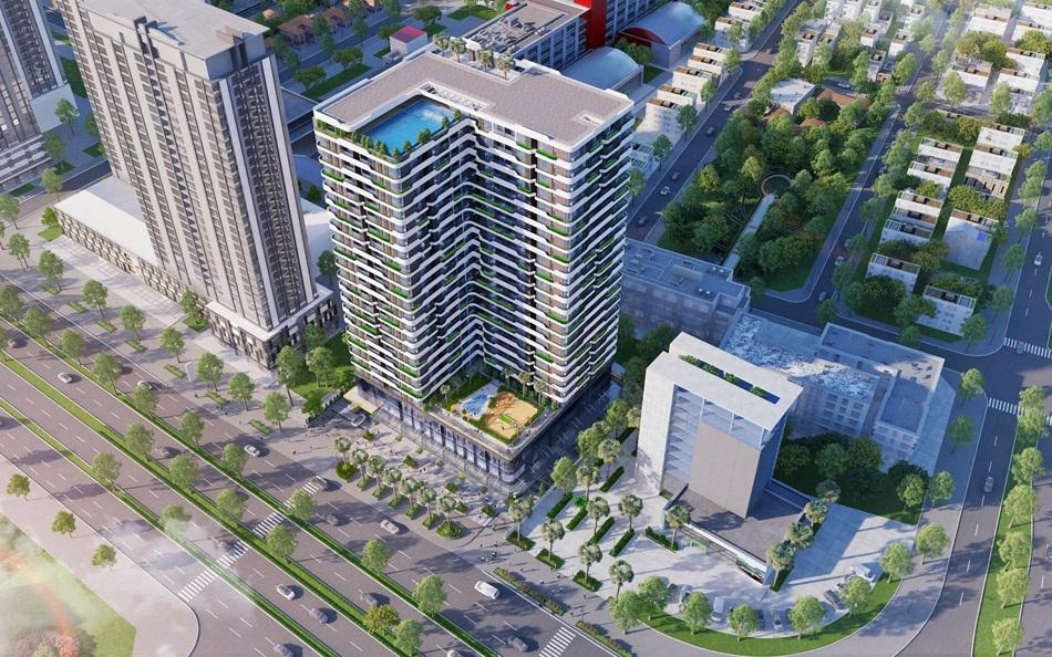 Phối cảnh tổng thể phác thảo dự án căn hộ Him Lam Riverside giai đoạn 3.